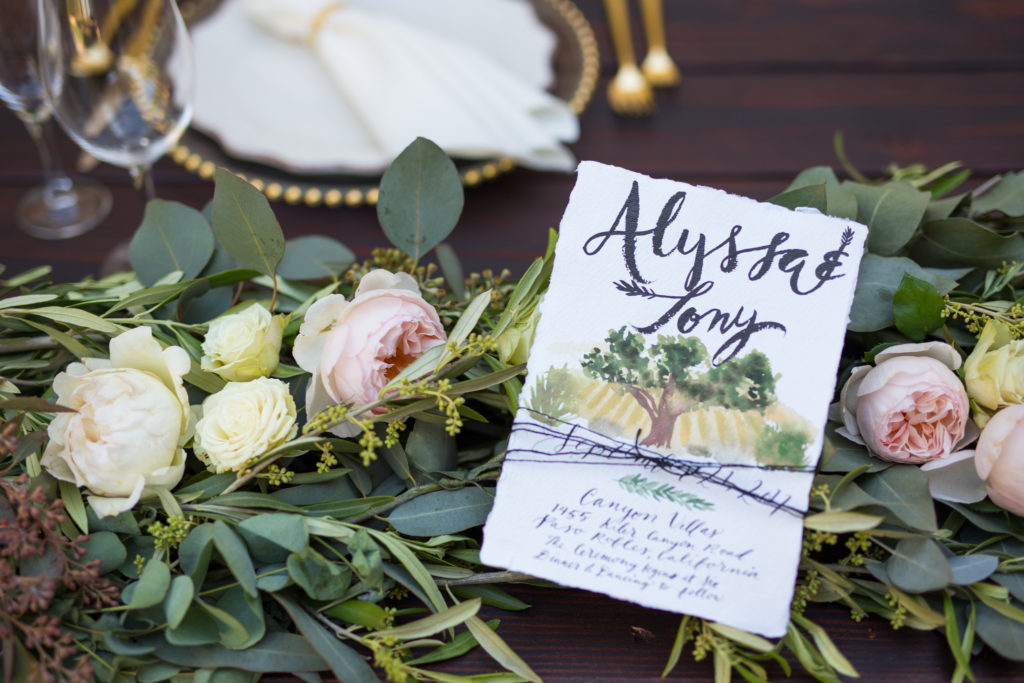 Mediterranean Wedding Inspiration Invitation